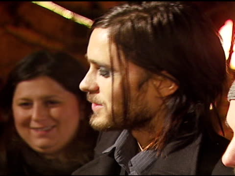 jared leto and 30 seconds to mars at the 2007 sundance film festival american eagle white out party at village at the lift in park city, utah on... - 30 seconds or greater stock-videos und b-roll-filmmaterial
