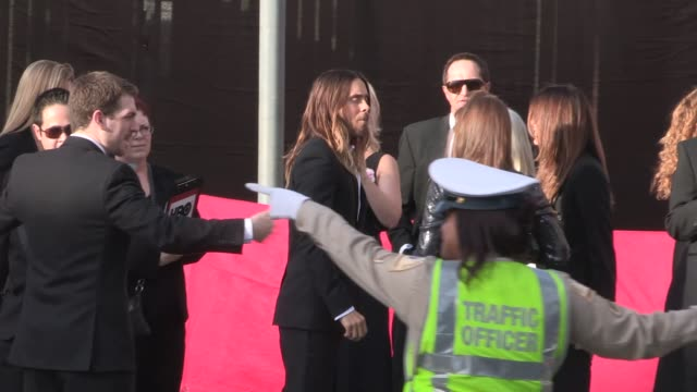 Jared Leto arrives at 20th Annual SAG Awards Celebrity Sightings in Los Angeles on in Los Angeles California