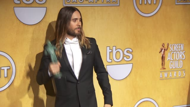 jared leto at 20th annual screen actors guild awards - press room at the shrine auditorium on in los angeles, california. - screen actors guild stock videos & royalty-free footage