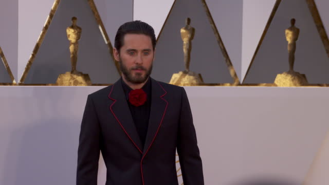 Jared Leto at 88th Annual Academy Awards Arrivals at Hollywood Highland Center on February 28 2016 in Hollywood California 4K