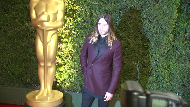 jared leto at academy of motion picture arts and sciences' governors awards in hollywood ca on - academy of motion picture arts and sciences stock videos & royalty-free footage
