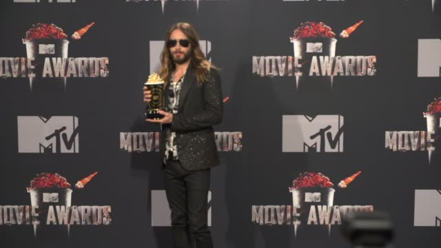 Jared Leto at the 2014 MTV Movie Awards at Nokia Theatre LA Live on April 13 2014 in Los Angeles California