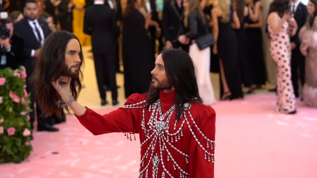 Jared Leto at The 2019 Met Gala Celebrating Camp Notes on Fashion Arrivals at Metropolitan Museum of Art on May 06 2019 in New York City