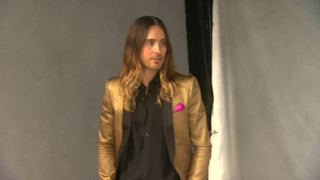 jared leto at the 86th academy awards nominee luncheon interviews at the beverly hilton hotel on in beverly hills california - the beverly hilton hotel stock videos & royalty-free footage