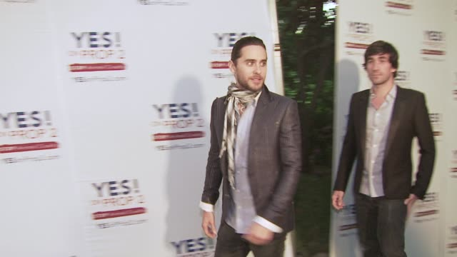 jared leto at the ellen degeneres and portia de rossi host yes on prop 2 party at los angeles ca - ellen degeneres stock videos and b-roll footage