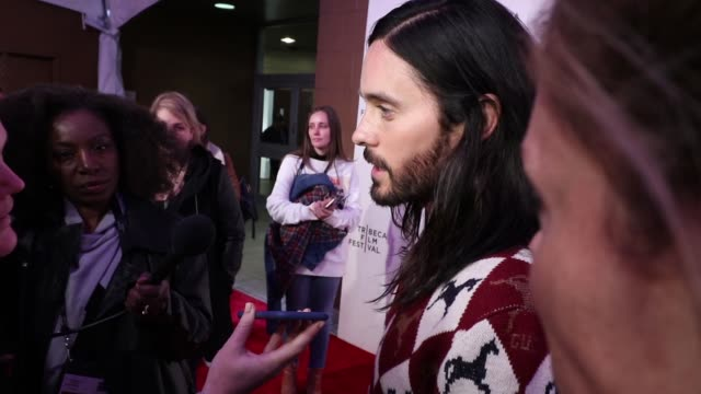 jared leto attends 'a day in the life of america' screening during the 2019 tribeca film festival at the village east cinema in new york united... - tribeca stock videos & royalty-free footage