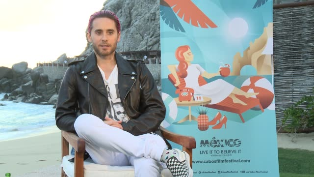 INTERVIEW Jared Leto on presenting the Tribute Award to Jean Marc Vallée on why he deserves the award on being here in Cabo Sam Lucas for the film...