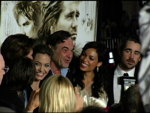 Jared Leto Val Kilmer Angelina Jolie Oliver Stone Rosario Dawson and Colin Farrell at the 'Alexander' Premiere Arrivals at Grauman's Chinese Theatre...