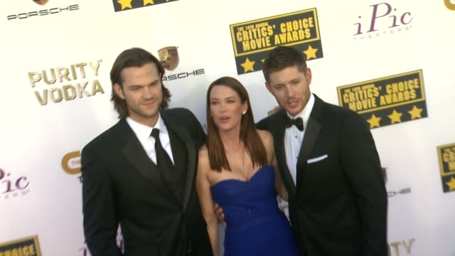Jared Padalecki Jensen Ackles at 19th Annual Critics' Choice Movie Awards Arrivals at The Barker Hanger on in Santa Monica California