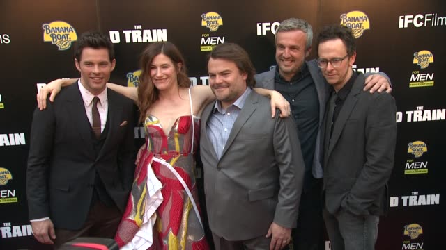 jarrad paul james marsden kathryn hahn jack black and andrew mogel at the d train los angeles premiere at arclight cinemas on april 27 2015 in... - arclight cinemas hollywood stock videos and b-roll footage