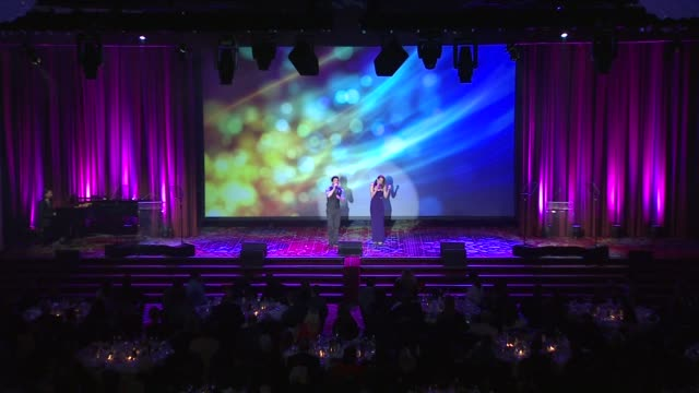 performance jarrod spector and kelli barrett perform at the trevor project's trevorlive new york at marriott marquis hotel on june 13 2016 in new... - marriott marquis new york stock videos & royalty-free footage