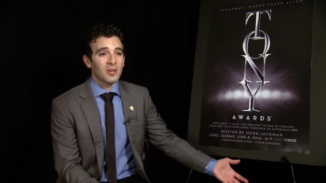 interview jarrod spector on how yesterday was a huge day for him on how he's been on broadway since 19 he talks about dreaming about this since he... - musical theater stock videos and b-roll footage