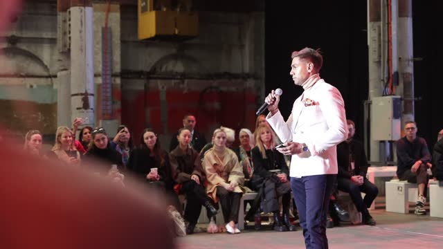 jarron andy speaks at welcome to country before the first nations fashion + design show during afterpay australian fashion week 2021 resort '22... - carriageworks stock videos & royalty-free footage