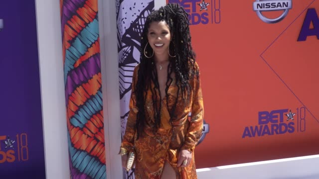 Jasmin Brown at the 2018 BET Awards at Microsoft Theater on June 24 2018 in Los Angeles California