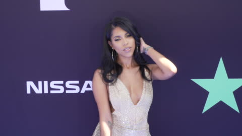 stockvideo's en b-roll-footage met jasmin brown at the 2019 bet awards at microsoft theater on june 23, 2019 in los angeles, california. - black entertainment television