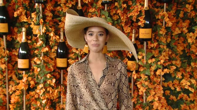 jasmin savoy brown at the ninthannual veuve clicquot polo classic los angeles at will rogers state historic park on october 06 2018 in pacific... - pacific palisades stock videos & royalty-free footage