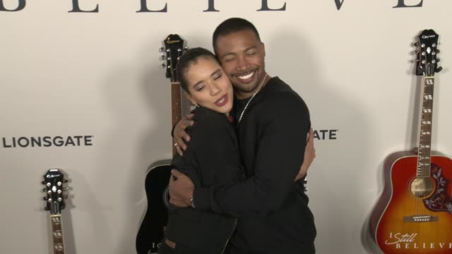 jasmin savoy brown charles michael davis at i still believe special screening at arclight hollywood on march 07 2020 in hollywood california - gif stock videos & royalty-free footage