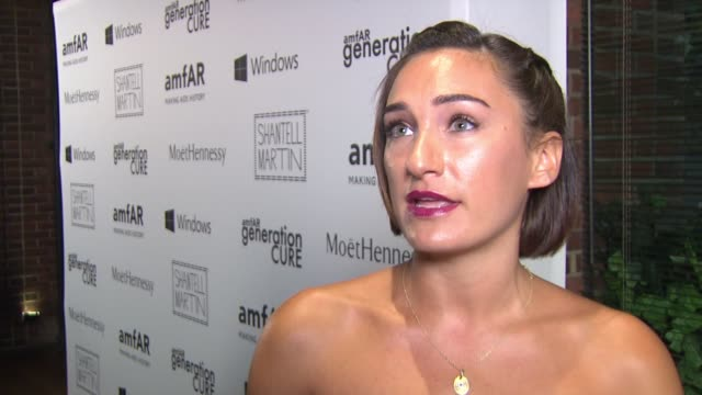 interview – jasmine chess is excited to throw a good party and feels strongly about eradicating hiv/aids at amfar generationcure solstice at hudson... - retrovirus stock videos and b-roll footage