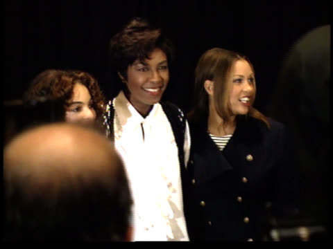 jasmine guy natalie cole and vanessa williams pose for photographs - friars roast 1993 stock videos and b-roll footage