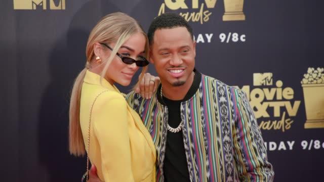 Jasmine Sanders and Terrence J at 2018 MTV Movie TV Awards Arrivals at Barker Hangar on June 16 2018 in Santa Monica California