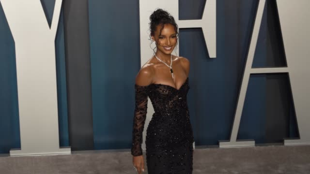 jasmine tookes at vanity fair oscar party at wallis annenberg center for the performing arts on february 09, 2020 in beverly hills, california. - vanity fair oscar party stock videos & royalty-free footage