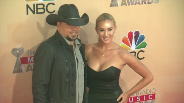 Jason Aldean and Brittany Kerr at the 2015 iHeartRadio Music Awards Red Carpet Arrivals at The Shrine Auditorium on March 29 2015 in Los Angeles...