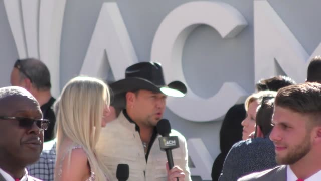 jason aldean arriving to the 52nd academy of country music awards in celebrity sightings in las vegas - academy of country music awards stock videos & royalty-free footage
