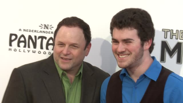 jason alexander at the book of mormon los angeles opening night on 9/12/12 in los angeles ca - mormonism stock videos & royalty-free footage