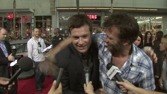 Jason Bateman on his character working with Will Smith Charlize Theron what attracted him to the film at the 'Hancock' Premiere @ the Chinese Theatre...