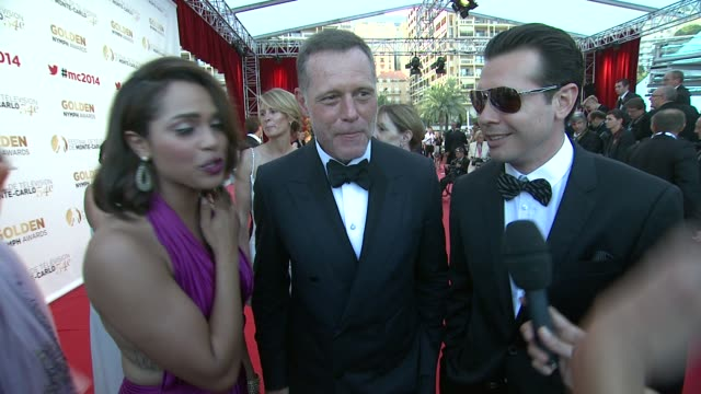 interview jason beghe monica raymund jon seda on helping each other get ready in the car on the way over at the 54th montecarlo television festival... - seda stock videos & royalty-free footage