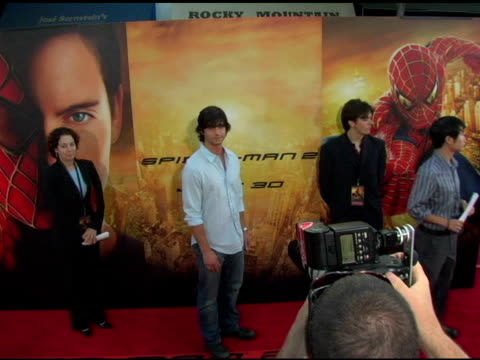 jason behr at the 'spider-man 2' los angeles premiere arrivals at the mann village theatre in westwood, california on june 22, 2004. - house spider stock videos & royalty-free footage
