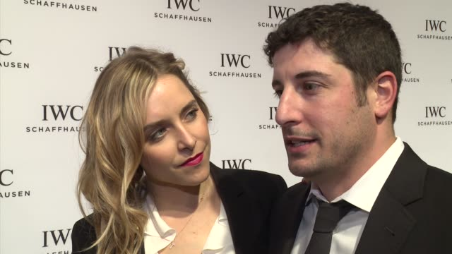 INTERVIEW Jason Biggs and Jenny Mollen talk about keeping the arts in curriculum at IWC Schaffhausen Fourth Annual For the Love of Cinema Gala During...