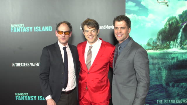 jason blum and jeff wadlow at the blumhouse's fantasy island premiere at amc century city 15 theater on february 10 2020 in century city california - century city stock videos & royalty-free footage