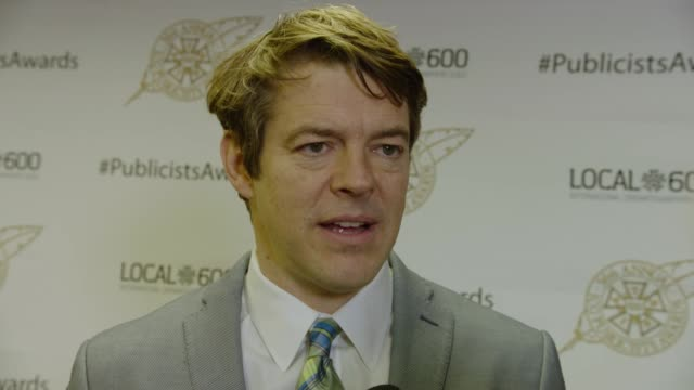 interview jason blum at 56th annual icg publicists awards 2019 at the beverly hilton hotel on february 22 2019 in beverly hills california - beverly hills stock-videos und b-roll-filmmaterial