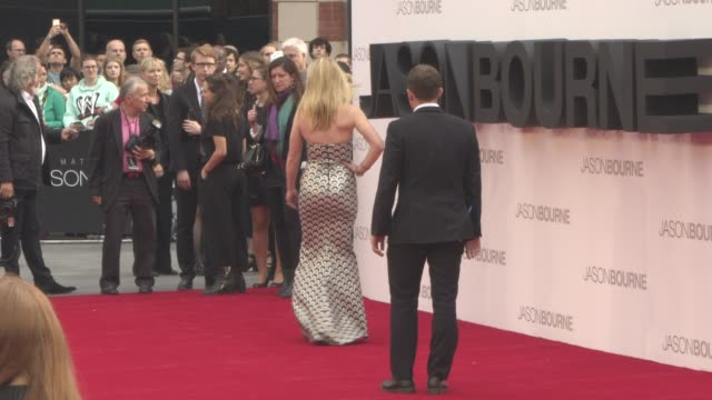 chyron 'jason bourne' european premiere on july 11 2016 in london united kingdom - event capsule stock videos & royalty-free footage