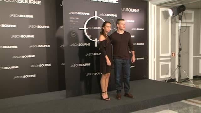 'Jason Bourne' Photocall with Matt Damon and Alicia Vikander