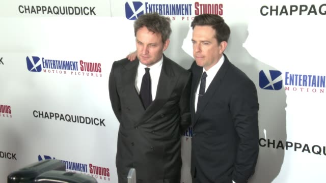 jason clark and ed helms at the chappaquiddick premiere at samuel goldwyn theater on march 28 2018 in beverly hills california - samuel goldwyn theater stock videos & royalty-free footage