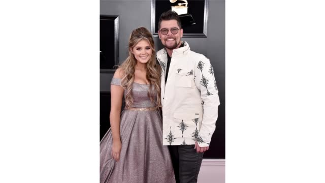 Jason Crabb and Ashleigh Crabb attend the 61st Annual GRAMMY Awards at Staples Center on February 10 2019 in Los Angeles California