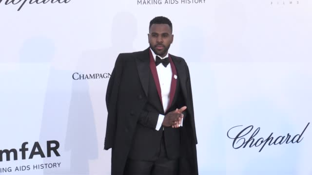 jason derulo at the photocall red carpet of the 25th annual amfar gala cannes during the 2018 cannes film festival cannes france 17th may 2018 - 71st international cannes film festival stock videos & royalty-free footage