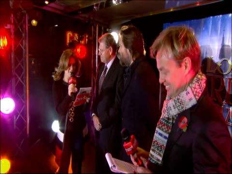 jason donovan harriet scott robert zemeckis and jim carey at oxford circus switching on the christmas lights at the a christmas carol premiere and... - robert zemeckis stock videos and b-roll footage