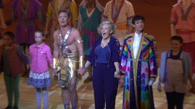 jason donovan jac yarrow sheridan smith at joseph and the amazing technicolor dreamcoat press night at london palladium on july 11 2019 in london... - sheridan smith stock videos & royalty-free footage