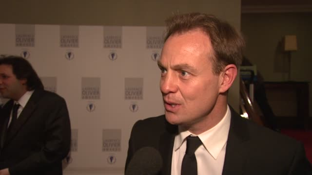 Jason Donovan on his role for tonight and trying not to drink at the Laurence Olivier Awards 2009 at London