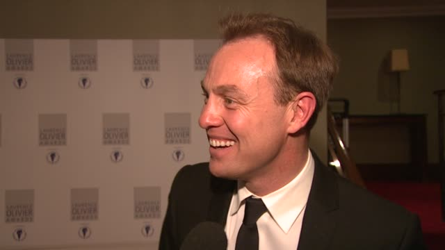 jason donovan on musical theater and his pop career at the laurence olivier awards 2009 at london - musical theater stock videos and b-roll footage