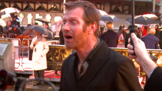 jason flemyng at the the clash of the titans at london england - clash of the titans stock videos & royalty-free footage