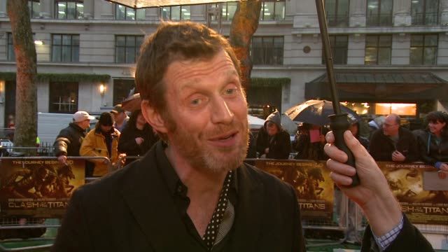 jason flemyng on taking the role knowing he was going to need a lot of make up on how long it took to get made up and if he had any difficulty going... - clash of the titans stock videos & royalty-free footage