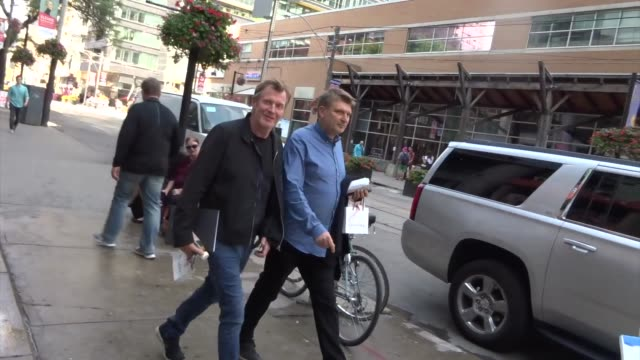 jason flemyng spotted on day 2 of the 2019 toronto international film festival at celebrity sightings in toronto on september 06, 2019 in toronto,... - toronto international film festival stock videos & royalty-free footage
