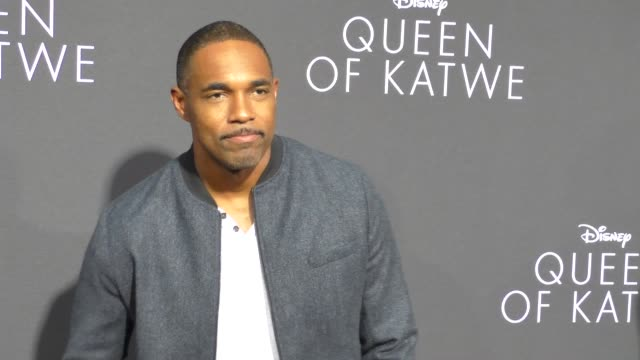 jason george at 'queen of katwe' los angeles premiere at the el capitan theatre on september 20 2016 in hollywood california - jason george stock videos and b-roll footage