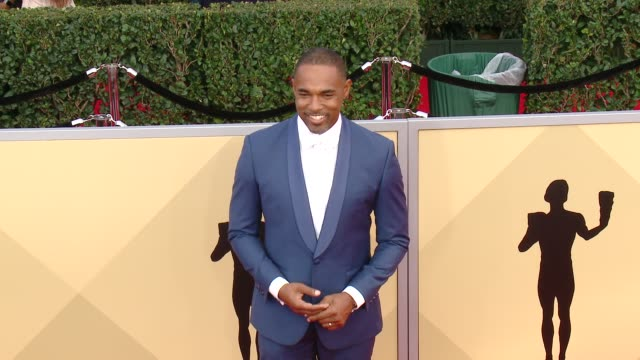 jason george at the 24th annual screen actors guild awards at the shrine auditorium on january 21 2018 in los angeles california - jason george stock videos and b-roll footage