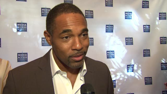 interview jason george at the media access awards 2017 on november 17 2017 in los angeles california - jason george stock videos and b-roll footage