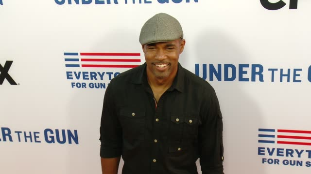jason george at the under the gun los angeles premiere at samuel goldwyn theater on may 03 2016 in beverly hills california - samuel goldwyn theater stock videos & royalty-free footage